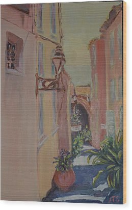 Wood Print featuring the painting Ville Franche by Julie Todd-Cundiff