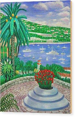 Villefranche Sur Mer---cote-d'azur Wood Print by Ronald Haber