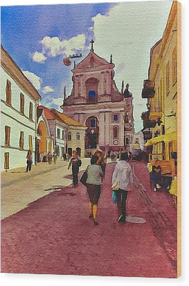 Vilnius Old Town 12 Wood Print by Yury Malkov