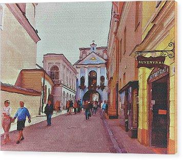 Vilnius Old Town 13 Wood Print by Yury Malkov