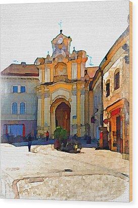 Vilnius Old Town 33 Wood Print by Yury Malkov