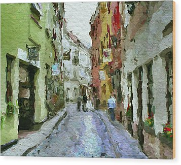 Vilnius Old Town 36 Wood Print by Yury Malkov