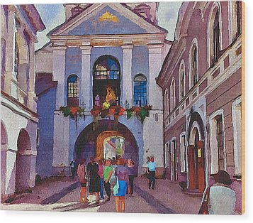 Vilnius Old Town Golden Gate 2 Wood Print by Yury Malkov