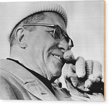 Vince Lombardi Close Up Wood Print by Retro Images Archive