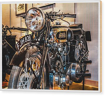 Wood Print featuring the photograph Vincent Hrd by Steve Benefiel