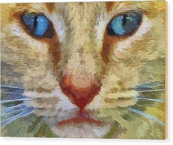 Vincent Wood Print by Michelle Calkins