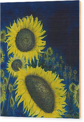 Wood Print featuring the painting Vincent Remembered by Cathy Long