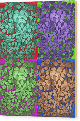 Vine Abstract Wood Print by Joan  Minchak