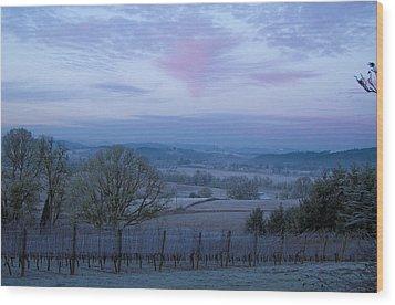 Vineyard Morning Light Wood Print by Jean Noren