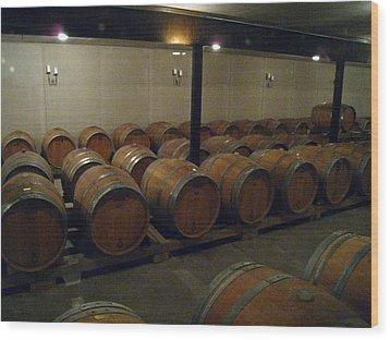 Vineyards In Va - 121270 Wood Print by DC Photographer
