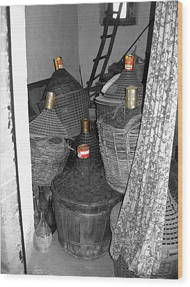 Wood Print featuring the photograph Vino Chianti by Victoria Lakes