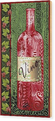 Vino Reds Wood Print by Sharon Marcella Marston