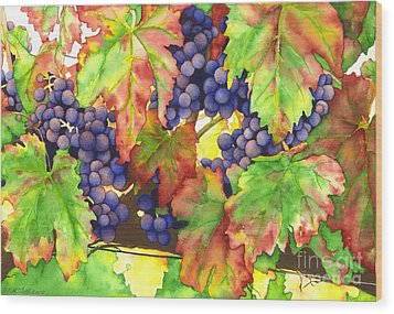 Vinous Wood Print by TR O'Dell