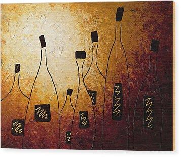 Vins De France Wood Print by Carmen Guedez