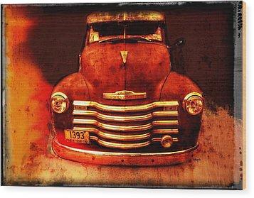 Vintage 1950 Chevy Truck Wood Print