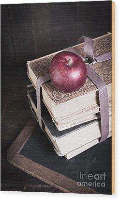 Vintage Back To School Wood Print by Edward Fielding