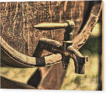 Vintage Barrel Tap Wood Print by Paul Ward