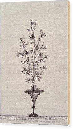 Vintage Bouquet Wood Print by Christine Corretti