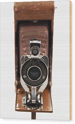 Vintage Camera Wood Print by John Rizzuto