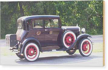 Vintage Car Wood Print by Kristine Bogdanovich