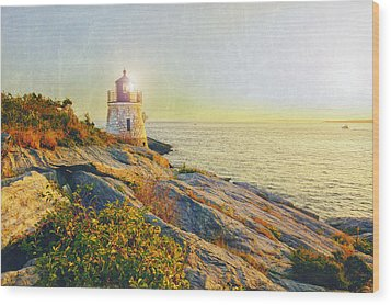 Vintage Castle Hill Light Wood Print