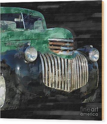 Vintage Chevrolet Pickup 1 Wood Print by Betty LaRue