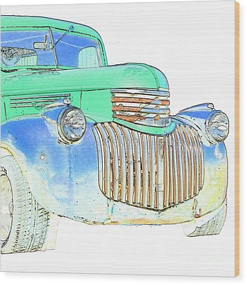Vintage Chevrolet Pickup 2 Wood Print by Betty LaRue