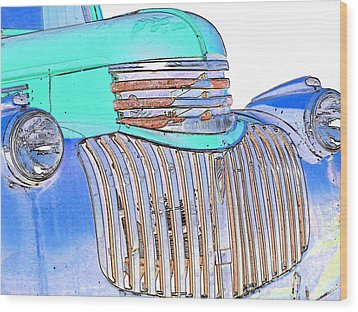 Vintage Chevrolet Pickup 3 Wood Print by Betty LaRue
