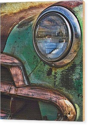 Vintage Chevy 3 Wood Print by Nancy De Flon
