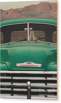 Vintage Chevy Truck Wood Print by Ron Sanford