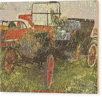 Vintage Classic Automobile Wood Print