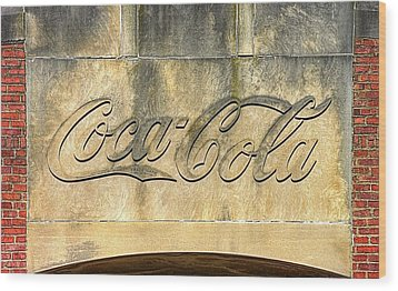 Vintage Coca Cola Bottling Plant Portal - Frederick Md Wood Print by Michael Mazaika