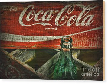 Vintage Coca-cola Wood Print by Paul Ward