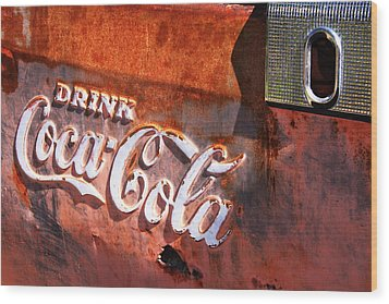 Wood Print featuring the photograph Vintage Coca Cola by Steven Bateson
