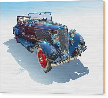 Wood Print featuring the photograph Vintage Convertible by Gianfranco Weiss
