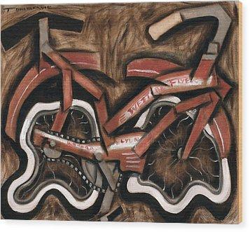 Vintage Cruiser Bicycle Art Print Wood Print by Tommervik