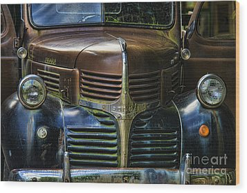 Vintage Dodge Wood Print by Mark Newman