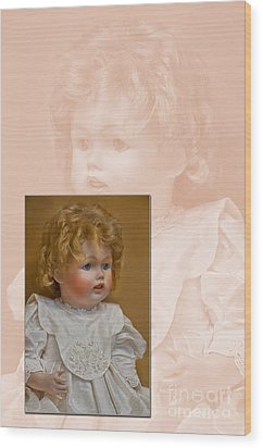 Vintage Doll Beauty Art Prints Wood Print by Valerie Garner