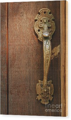 Vintage Door Handle Wood Print