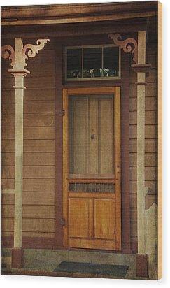 Vintage Doorway Wood Print by Marilyn Wilson