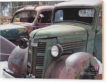 Vintage Wood Print by Fiona Kennard
