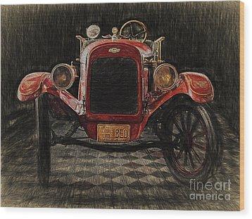 Vintage Fire Truck  ... Wood Print