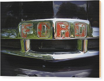 Vintage Ford Wood Print by Laurie Perry