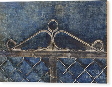 Vintage Gate - Fence - Chain Link - Texture - Abstract Wood Print by Andee Design
