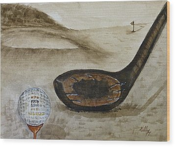 Vintage Golfing In The Early 1900s Wood Print by Kelly Mills