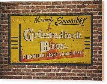 Vintage Griesedieck Bros Beer Dsc07192 Wood Print