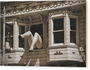 Vintage Haight And Ashbury San Francisco Wood Print by RicardMN Photography