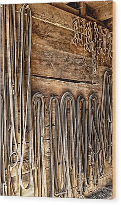 Vintage Harnessing Wood Print by Olivier Le Queinec