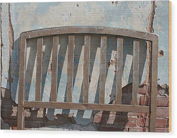 Vintage Headboard Wood Print by Paulette Maffucci