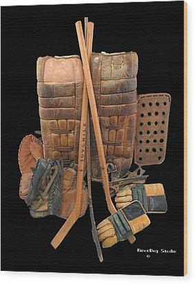 Vintage Hockey Equipment #2 Wood Print by Spencer Hall